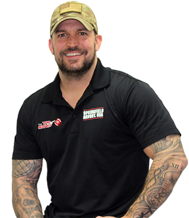 Justin Lipes with firearm webinar and gun webinar tattoos