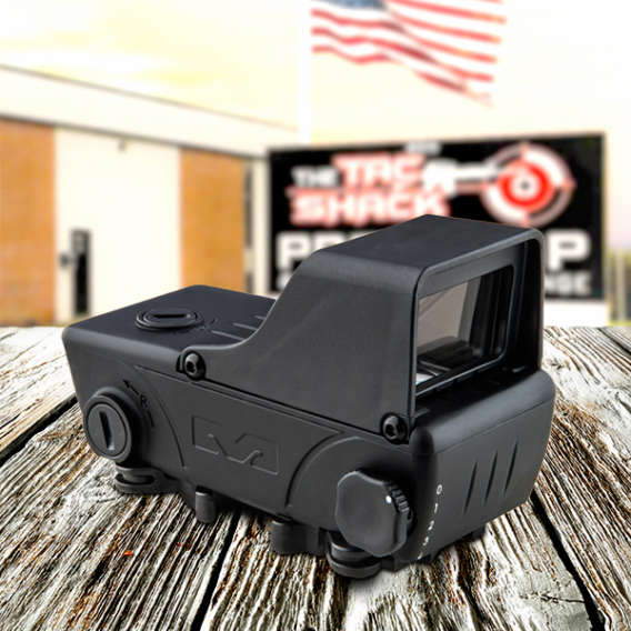 red dot sight on table with tac shack webinar
