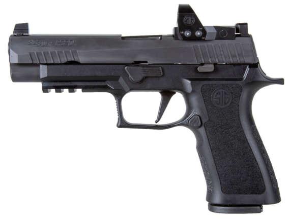 black semi automatic pistol