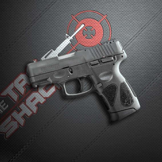 semi automatic pistol on black background for gun webinars